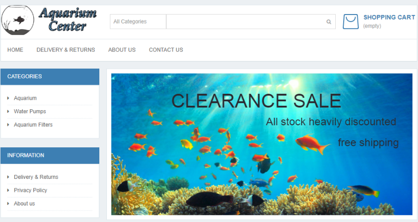 Aquarium fake website scam