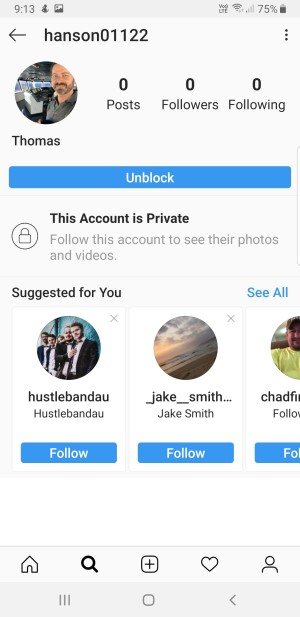 screenshot of fake instagram profile of Captain Thomas