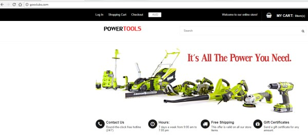fake power tools website