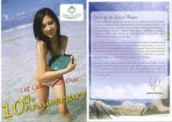 Cover of the Vmac pamphlet showing a girl playing in the ocean