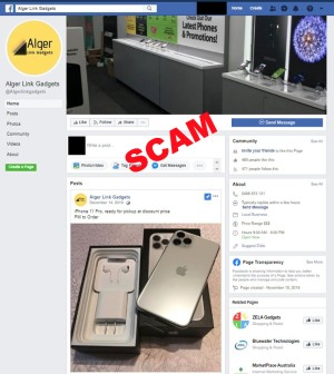 image of fake online mobile shop