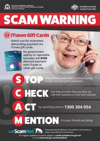 Scam Warning iTunes Gift Cards Posters_PRINT A4