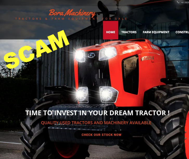 Fake farming machinery websites