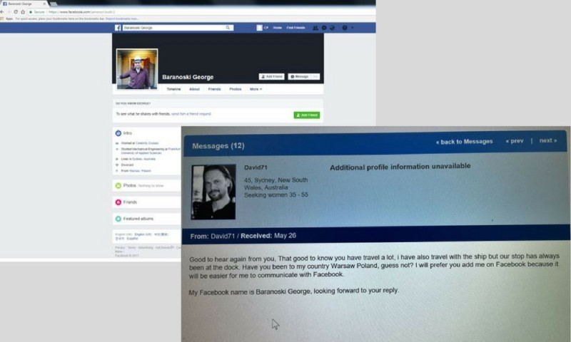 Fake dating and facebook profile