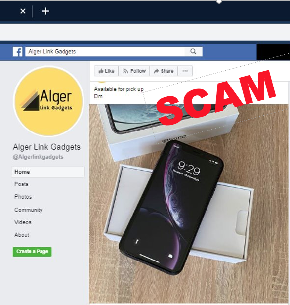 Fake mobile phone online stores