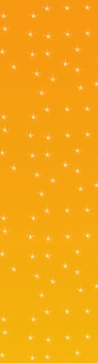 An orange rectangle with white stars on it.