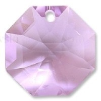 An amethyst pendant in the shape of an octagon